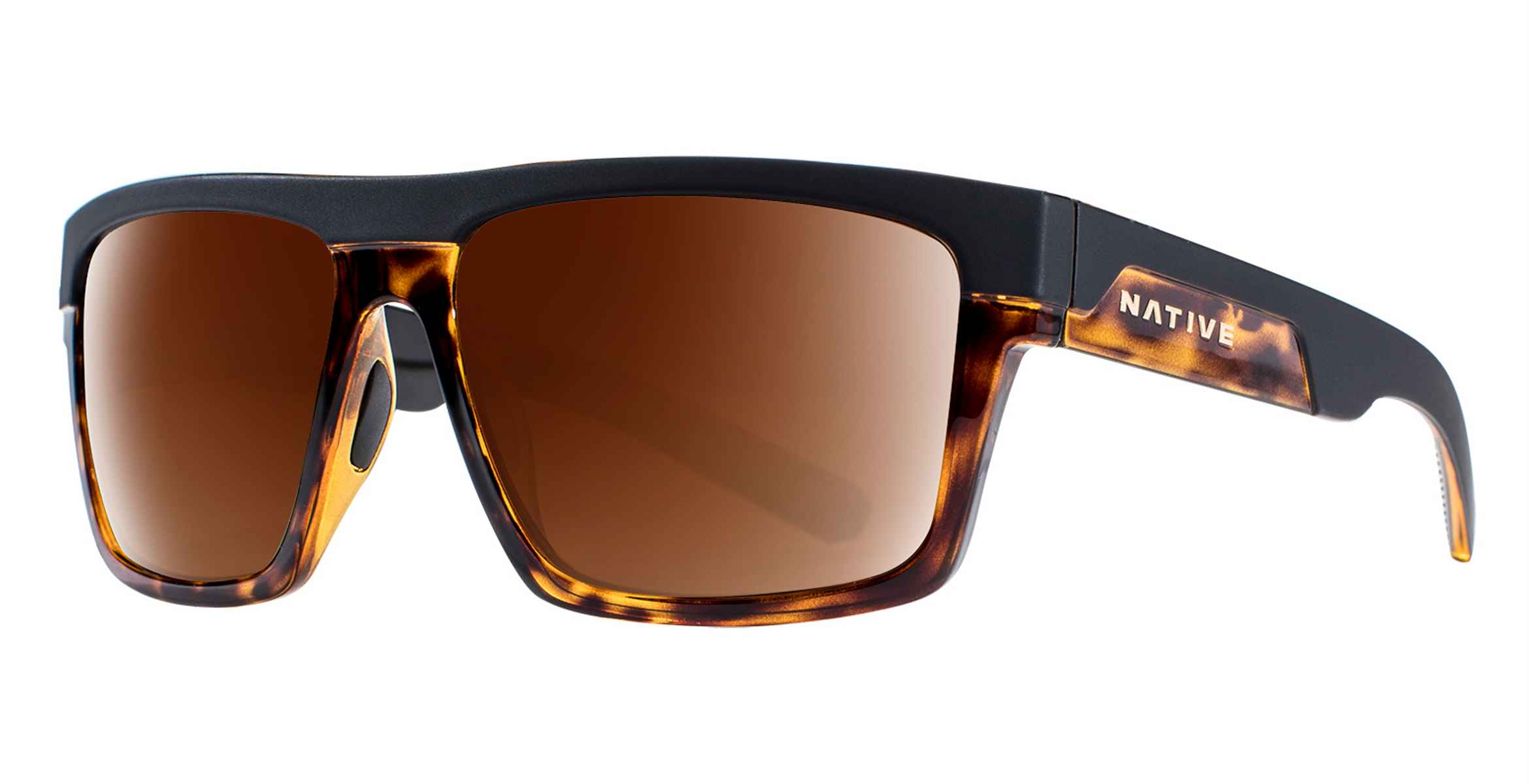 c4f5006ec11 Native Eyewear Sunglasses El Jefe Matte Black Shiny Dark Tortoise Pol N3  Brown - 191 924 524