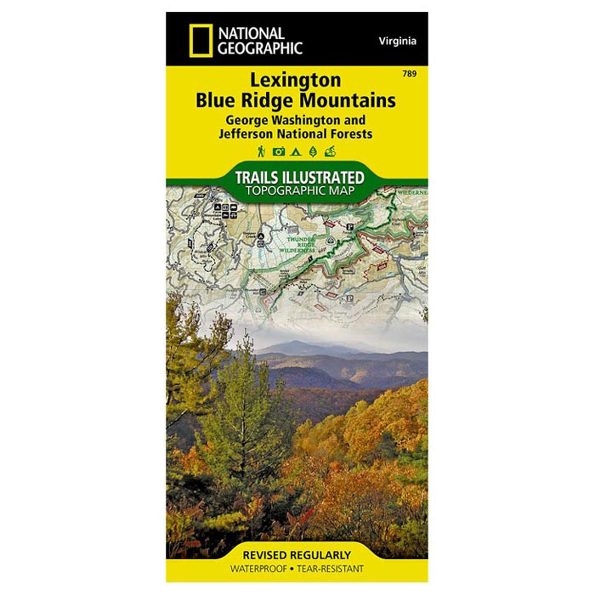 Details About National Geographic Lexington Blue Ridge Mountains 789 By Virginia 789