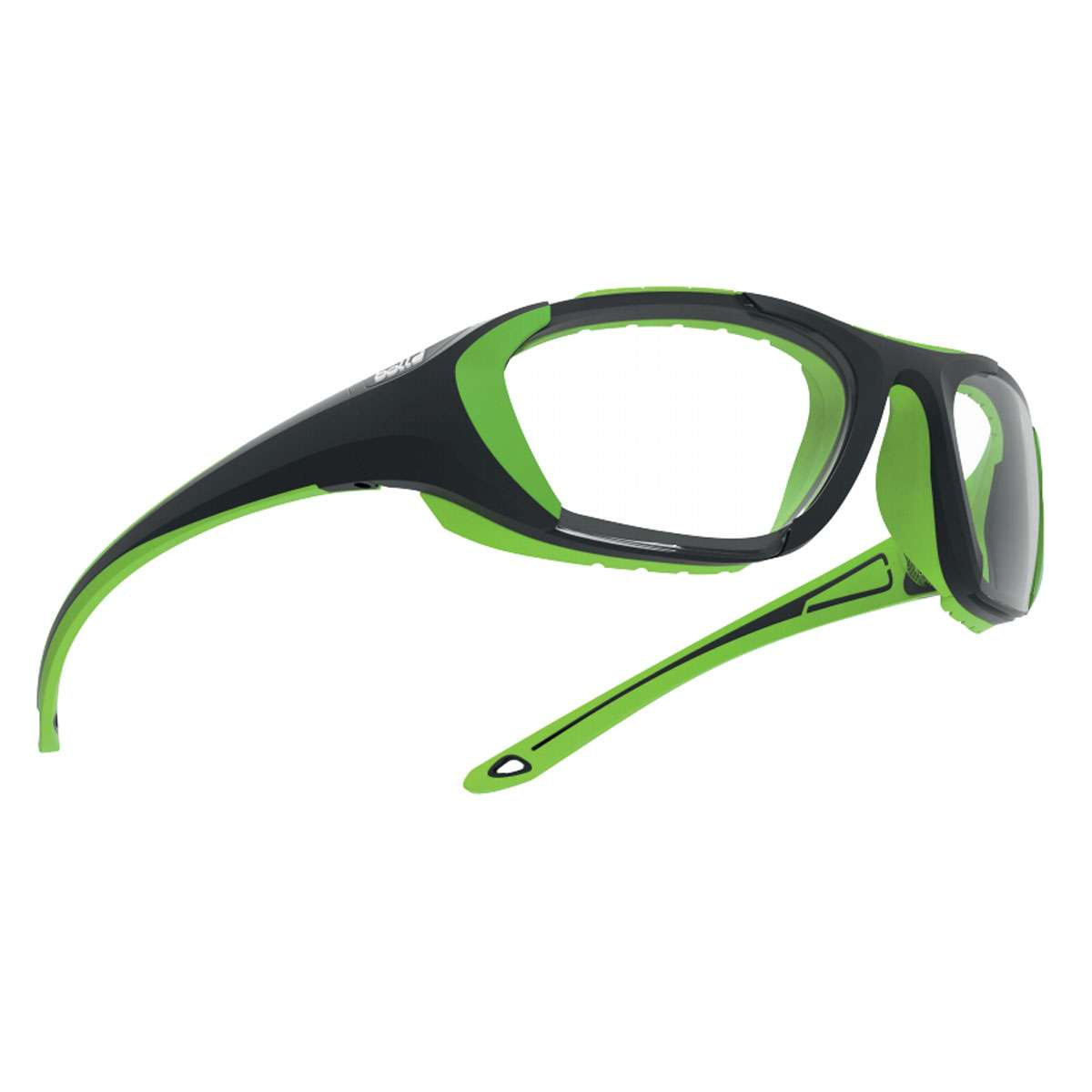 75f6c6779eb Bolle Youth Baller Sport Protective Goggle - Black Green Frame Clear PC  Platinum Lens - 12395