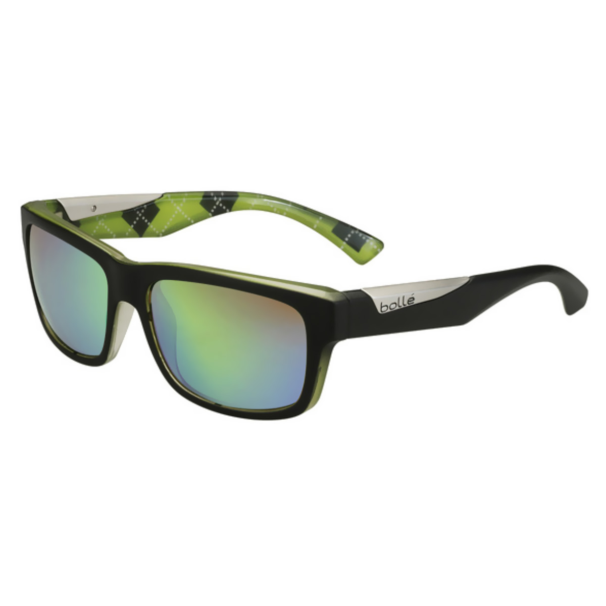ad926203793 Bolle Jude Sunglasses (Mat Black Lime - Brown Emerald Lens ...
