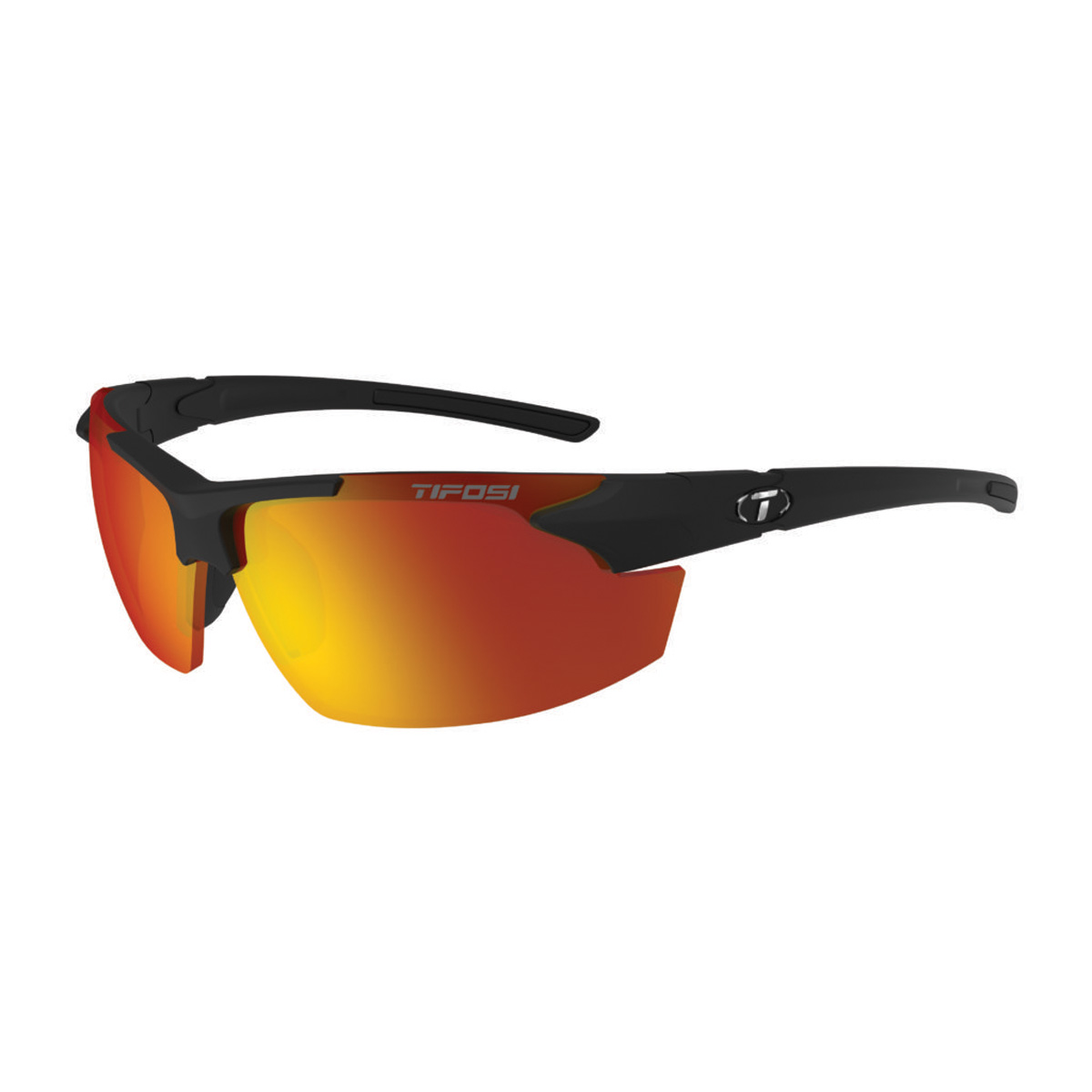 Tifosi Jet FC Sunglasses 1140400178 Matte Black Smoke Red | eBay