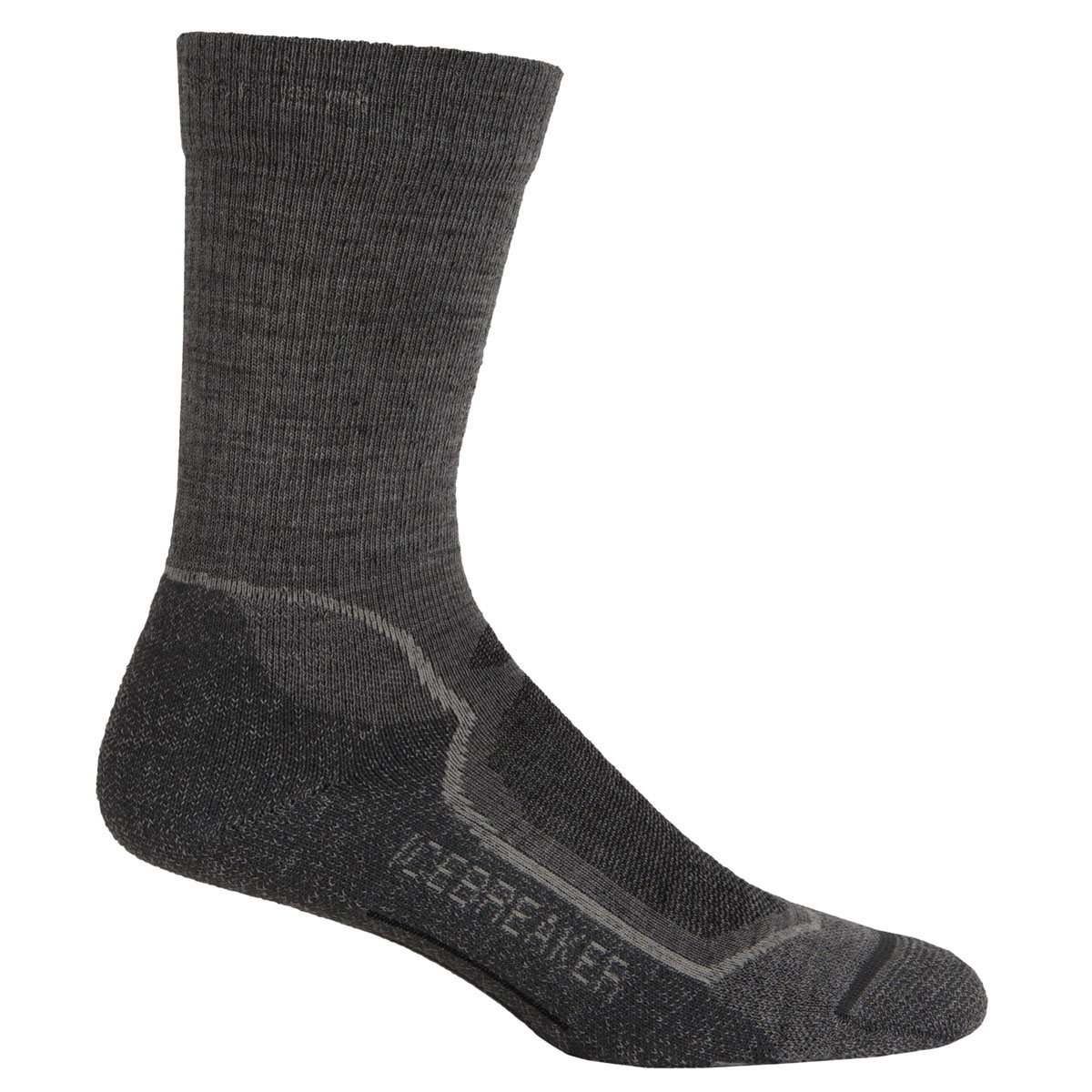 64f662249f Icebreaker Hike Plus Lite Crew Socks for Men Twister Heather/silver ...